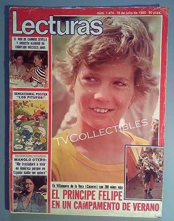 Magazine~ LECTURAS ~July 18 1980 ~Prince Felipe ~Lolo Garcia ~Augusto Alguero