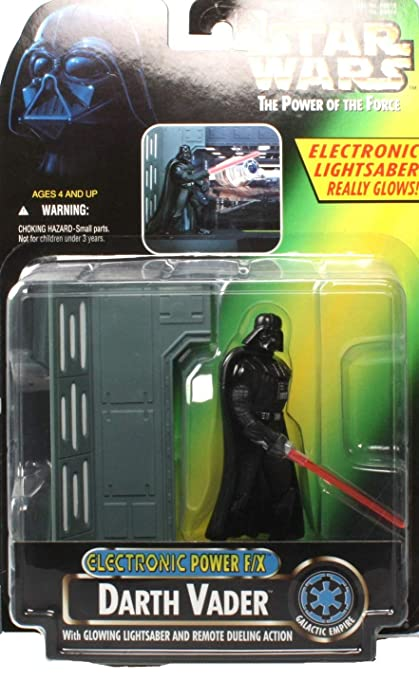 06ddc2b4 Amazon.com: Barbie Star Wars Power of the Force Electronic Power F/X Darth  Vader Action Figure: Toys & Games