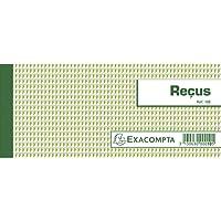 Exacompta 10E Carnet Reçus 9/13 50 Feuillets avec Talon