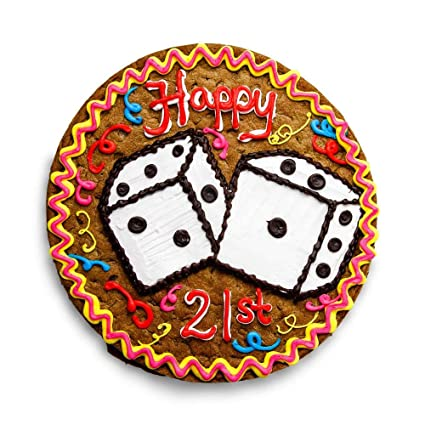 Miraculous Amazon Com The Great Cookie 13 Inch 21St Birthday Giant Cookie Funny Birthday Cards Online Hendilapandamsfinfo