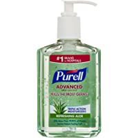 Purell Instant Hand Sanitizer with Aloe, 8 Fl Oz (Packaging May Vary)