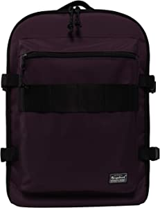 Rangeland Compact Laptop Backpack IATA Approved Suitcase-style Backpack Carry On Weekender Bag 17L Business Gym Commute Travel Bag, Eggplant