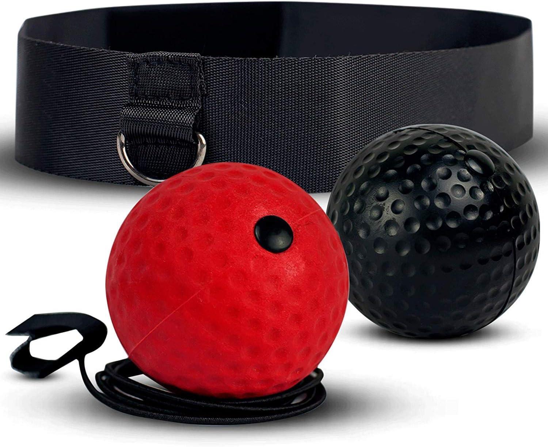 CESHMD Boxe Balle Reflex pour Boxing Tennis Bandeau Box Ball Entrainement Fight Training Accessoire