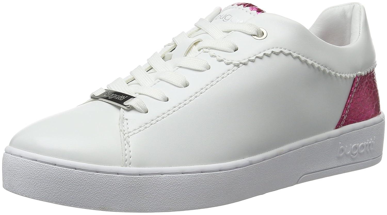 Bugatti J7608pr6n, Zapatillas para Mujer 37 EU Blanco (Weiss / Pink 279)