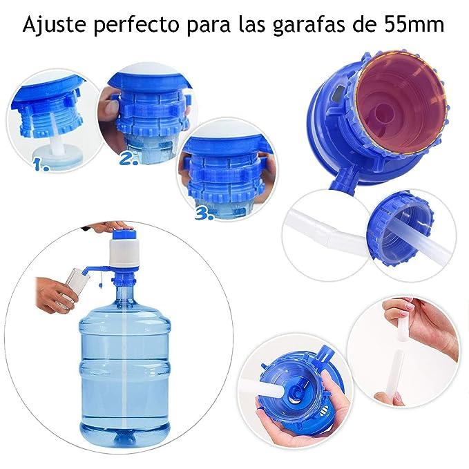 MovilCom® - Dispensador Agua para garrafas | Dosificador Agua garrafas Compatible con garrafas de 5, 10 y 20 litros | Grifo Botella Agua 5 litros | garrafas ...