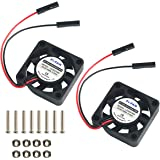 MakerFocus 2pcs Raspberry Pi DC Brushless Cooling Fan Heatsink Cooler Radiator Connector Separating One-to-Two Interface 3.3V 5V for Raspberry Pi 2/ Pi 3/3B+ and Pi Zero/Zero W or Other Robot Project