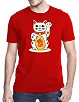 Maneki-Neko Japanese Beckoning Welcoming Lucky Cat T-Shirt