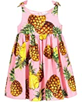 Kimocat Baby Girls Fruit Printed Sleeveless Dress Party Pageant Dress for 2-8 Toddler