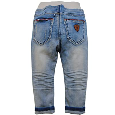 3868 spring baby boys jeans soft denim light blue casual pants baby jeans trousers