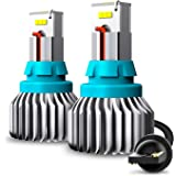 AUXITO Error Free 912 921 T15 LED Bulbs 2000 Lumens Bright CSP 9-SMD Plug and Play for Backup Reverse Lights, 6500K White (Pa