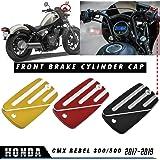 LoraBaber Deslizador de marco de protectores antica/ídas de motocicleta para Honda Rebel CMX 500//300 2017 2018 2019 Anti Crash Engine Protection Crash Pad Cover Negro