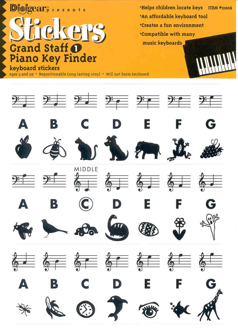 gs13 piano key finder stickers grand saff keyboard labels decals amazoncouk musical instruments
