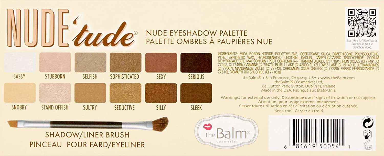 Ca car color combos - Thebalm Nude Tude Eyeshadow Palette Naughty 5 0 Oz The Balm Amazon Ca Luxury Beauty