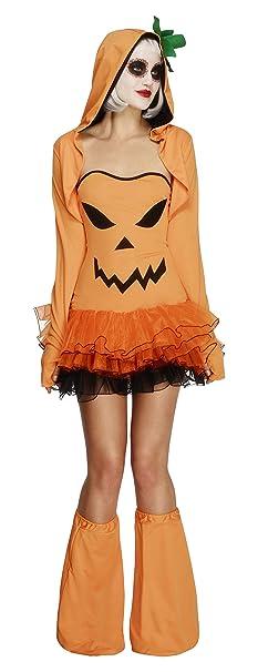 ca78c5b228d Fever Women's Pumpkin Tutu Dress with Detachable Straps Hooded Jacket