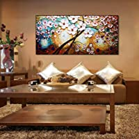 MW Dipinto a Mano Tela Soldi Albero Olio Pittura 3D Moderno Minimalista ins murale Soggiorno Divano Sfondo Parete Decorazione Pittura Poster Wall Art