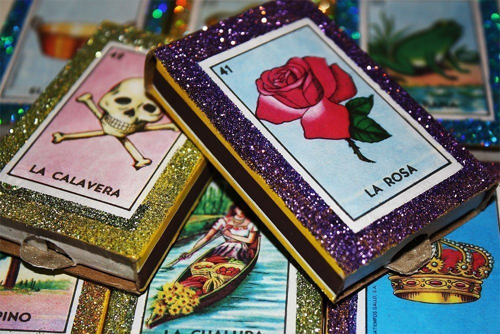 Mexican Loteria Matchbox Wedding Favors - Set of 100