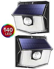 140 LED Solar Lights Outdoor, Mpow Motion Sensor Waterproof Light