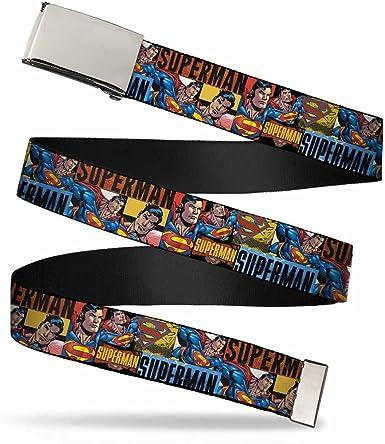 DC COMICS SUPERMAN MENS WOMENS WEB BELT WITH METAL BUCKLE