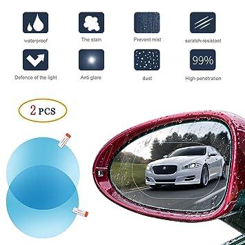 Protector para espejo retrovisor de coche, resistente a la lluvia, anti empañamiento, película protectora antirreflectante, 2 unidades.