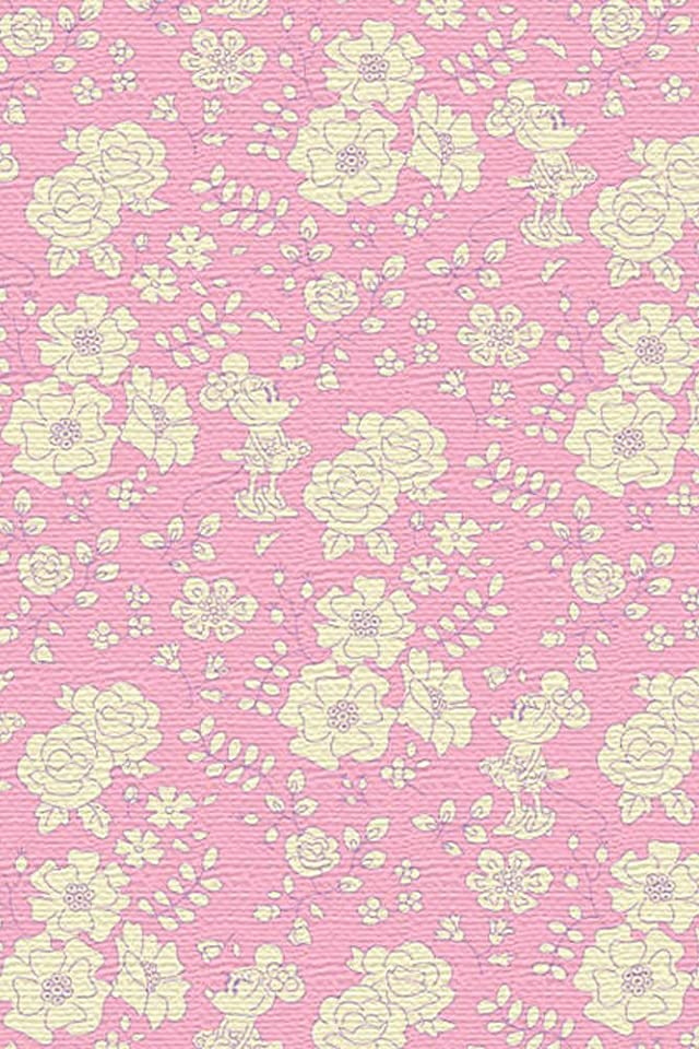 ディズニー ミニーマウス iPhone(640×960)壁紙画像