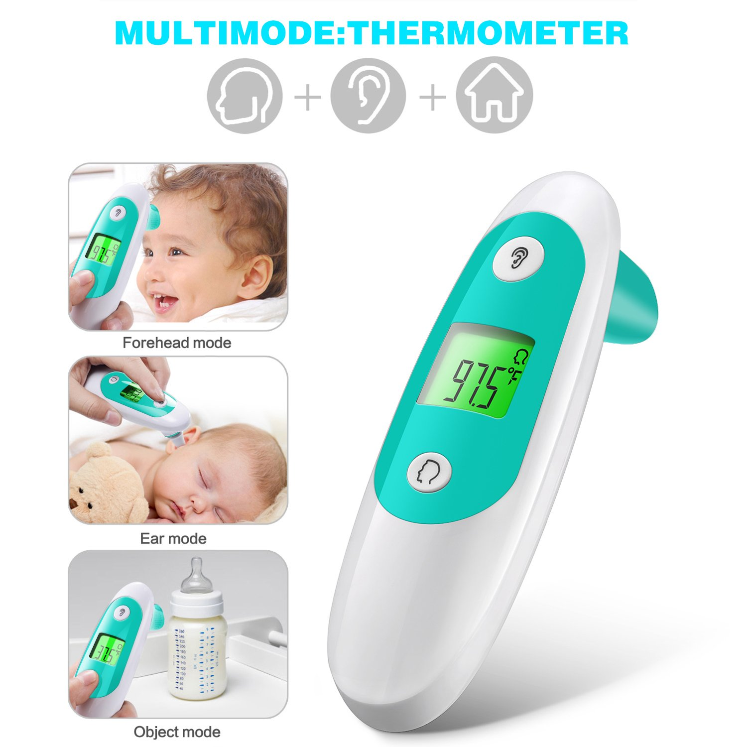 Baby Thermometer, Accurate Forehead Thermometer with Ear Mode, Digital Clinical Thermometer for Baby, Toddler and Adults with with FDA Approved by APOLLED (Image #9)
