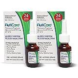 FlutiCare - 120 Metered Nasal Sprays (2 Pack) - Fluticasone Propionate 50mcg - Relief During Allergy Season for Pollen, dust, Dander, and Other Indoor and Outdoor Allergens