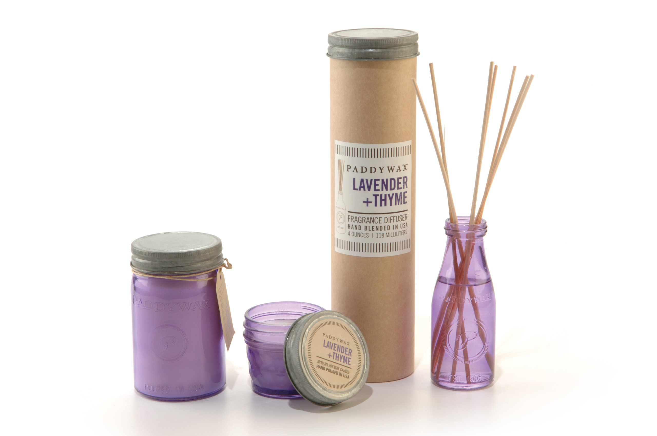 Paddywax Relish Collection Scented Soy Wax Jar Candle, 9.5-Ounce, Lavender & Thyme by Paddywax Candles (Image #2)