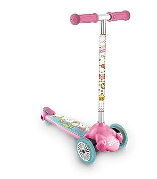Mondo Scooter 18730 Twist and Roll - Patinete con diseño de Hello Kitty, Color Rosa