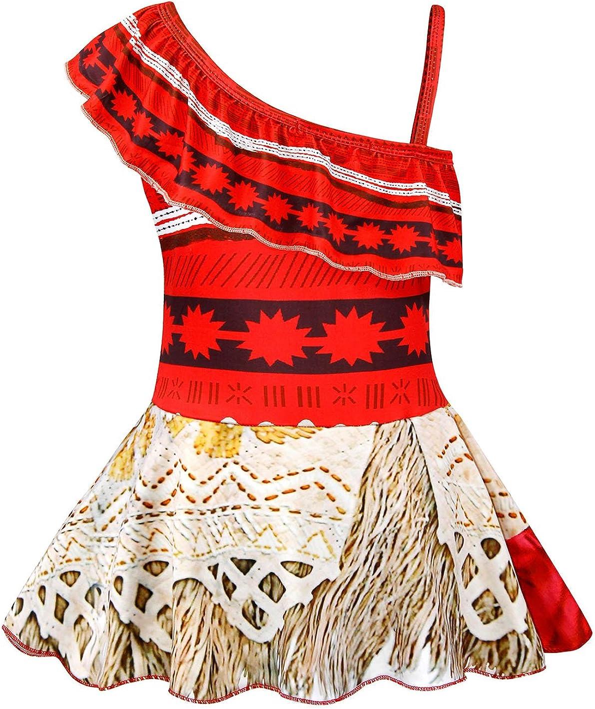 Jurebecia Little Girls Two-Piece Summer Swimwear Role Play Bikini Swim Suit Toddler Tankini Red 2-10 Years