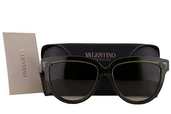 Valentino V724S gafas de sol w/verde gris del gradiente de ...
