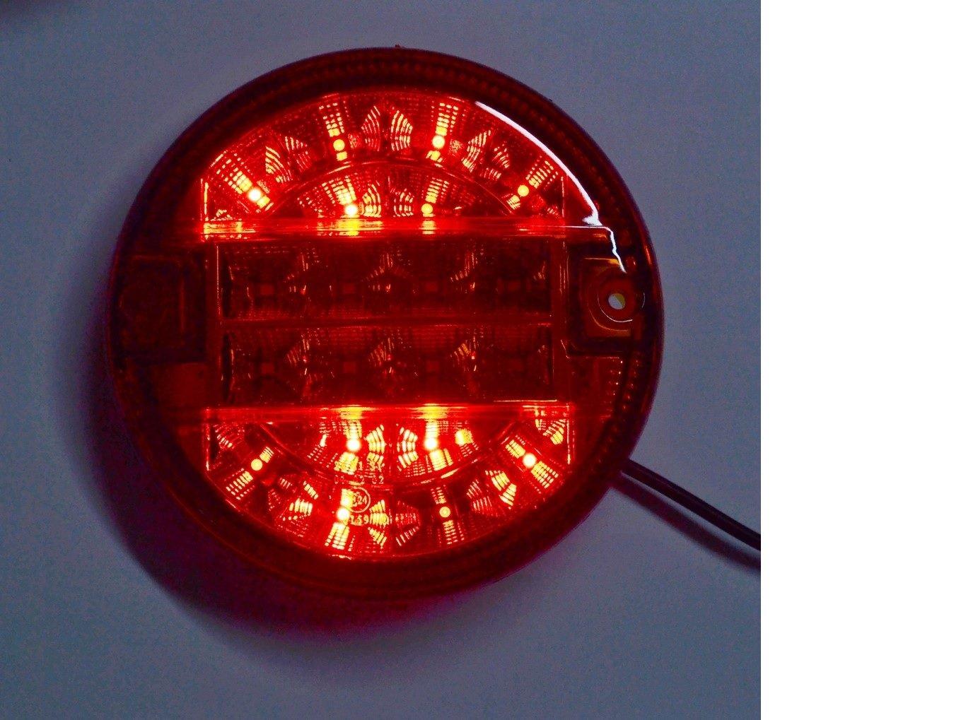 6/pezzi 24/V SMD LED Tail Lights hamburger stile luci posteriori camion rimorchio telaio ribaltabile caravan e-marked