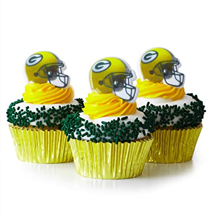 ee67887da Image Unavailable. Image not available for. Color  (24) Green Bay Packers  Cupcake ...
