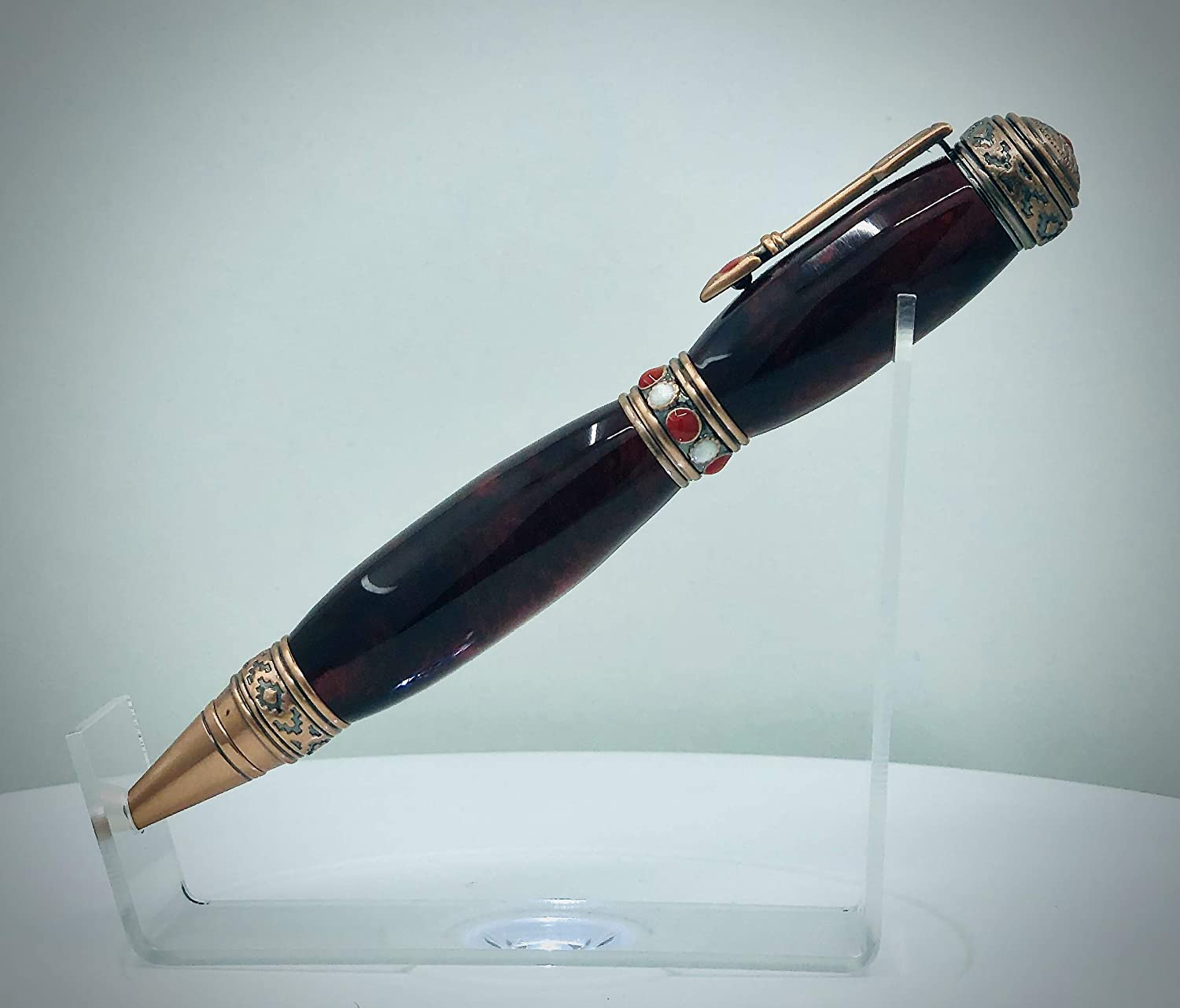 American Southwest Acrylic Resin and Exotic Layered Wood Twist Pen