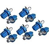 10x AMPOULE LED COMPTEUR TABLEAU DE BORD B8-5D T5 Lampe avec support BLEU TUNING auto voiture lumiere