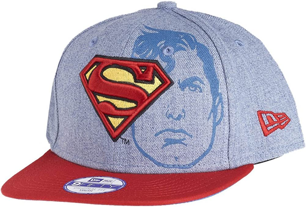 Superman DC Comics Azul / Rojo / Amarillo Junior NIÑO Heather Face ...