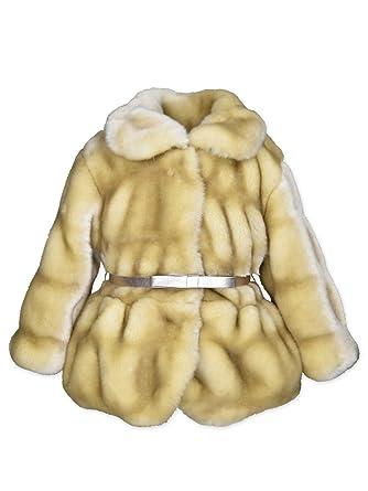 03b333af0 Amazon.com  Widgeon Baby Girls Peplum Faux Fur Jacket with Belt 3715 ...
