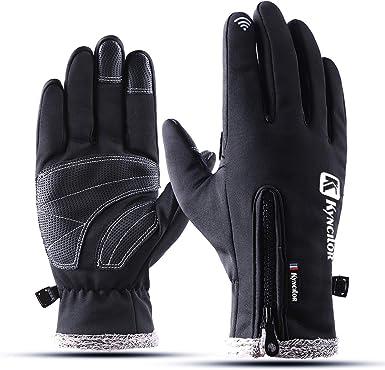 Men Women Zipper Touch Screen Gloves Motorcycle Gloves Keep Warm Ride Waterproof Gloves Cold-resistant Gloves