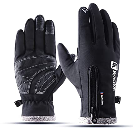 Apparel Accessories Windproof Pu Leather Ski Gloves Cold Protection Touch Screen Cycling Non-slip Gloves For Men Women Thickening Fleece Waterproof