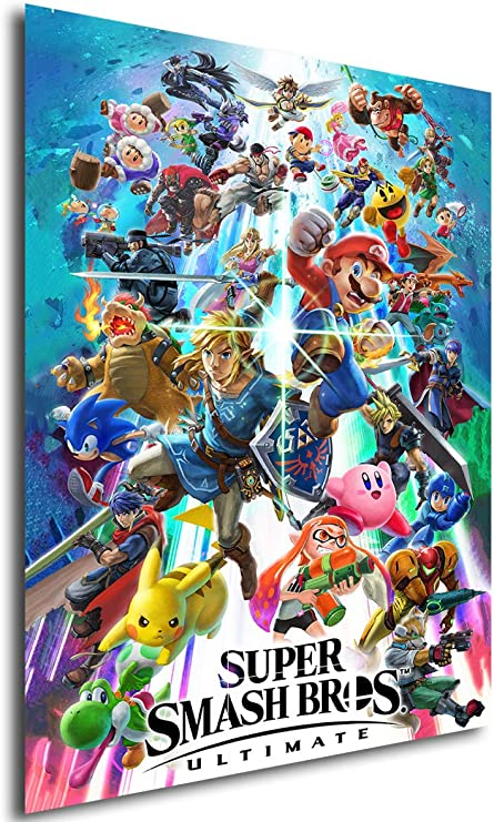 Instabuy Poster Game Cover - Super Smash Bros Ultimate - Formato (42 x 30 cm): Amazon.es: Hogar