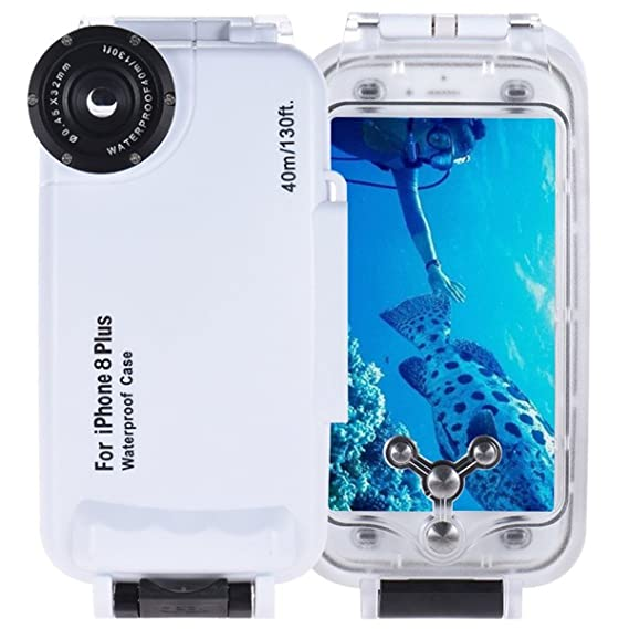 sale retailer 16634 93c0b BECROWMUS Underwater Waterproof Diving Case for iPhone 8 Plus Photography  Phone Housing Cover 40M/130ft Professional Deep-sea Dry Protective Case ...
