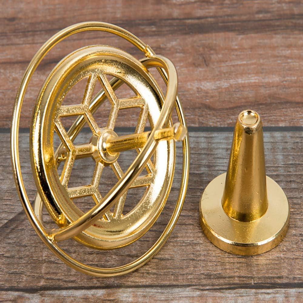 Doubjoy Puntelli per linsegnamento della Fisica del giroscopio Meccanico in Metallo giroscopio Anti-gravit/à Giocattoli buoni Regalo Silver