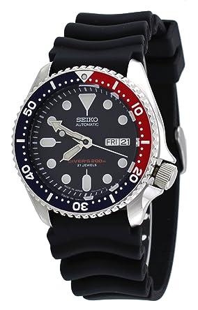 Amazon Com Seiko Divers Automatic Blue Dial Men S Watch Seiko Watches