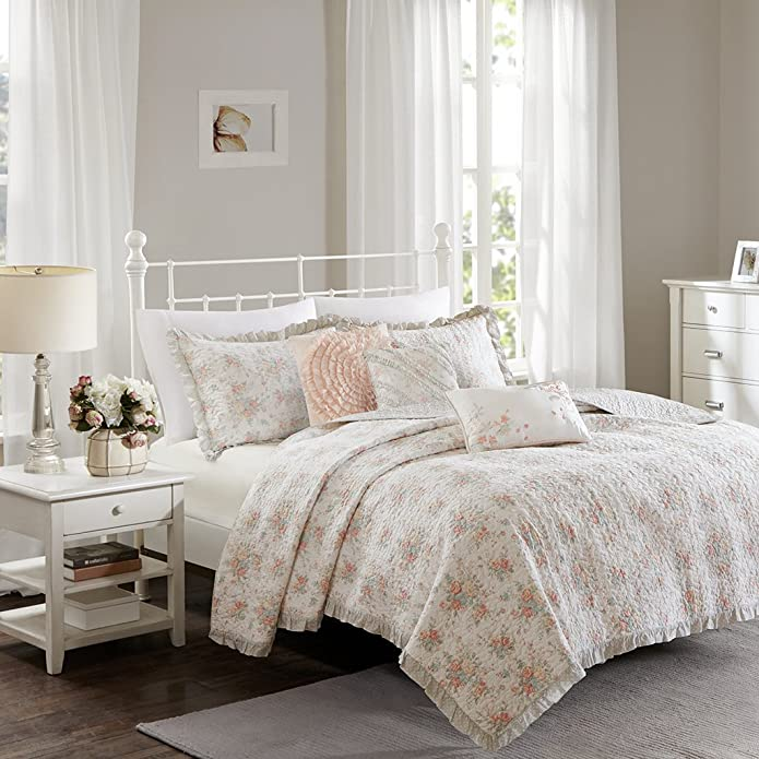 Desiree Cotton Percale Quilted Coverlet Bedding Set