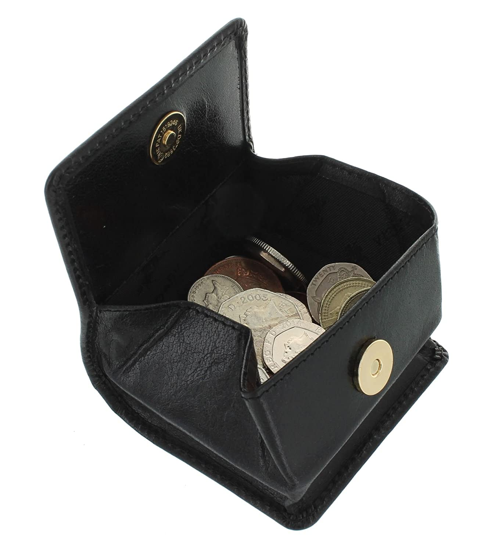 Visconti Porte-Monnaie Cuvette pour Pi/èces en Cuir 421 Marron