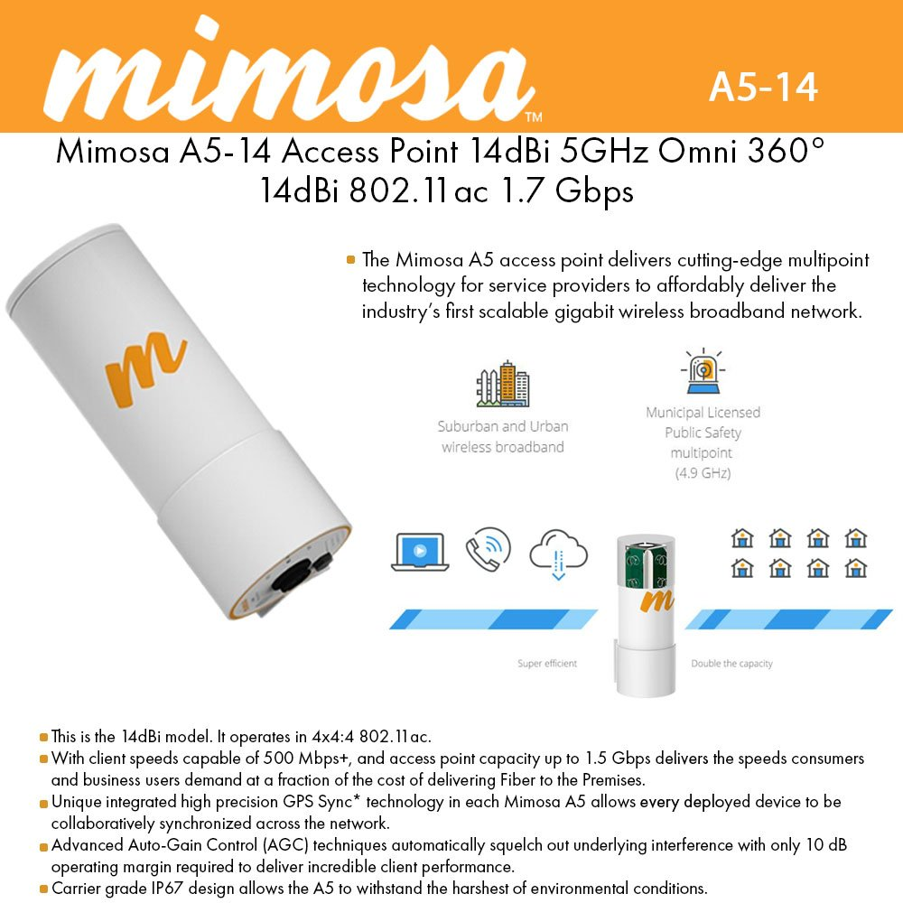 Mimosa A5-14 Multipoint Access Point by Mimosa Networks