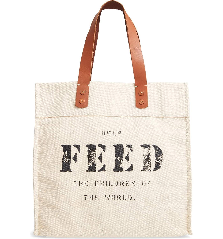 [フィード] レディース トートバッグ FEED Market Canvas Tote [並行輸入品] One-Size  B07RSTQ5LP