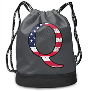 American Flag Print Design Sports Bag