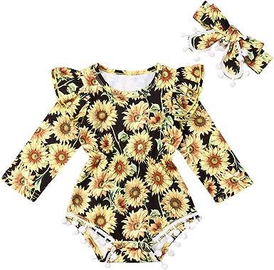 Baby Girls Off Shoulder Cartoon Romper Bodysuit Jumpsuit Sunsuit Clothes Outfits