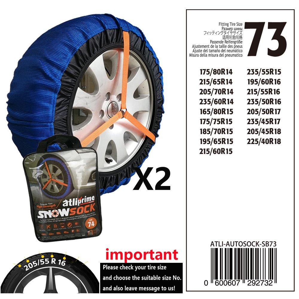 ATLI-SB76 cha/îne de neige de tissu datliprime cha/înes de pneu textile chaussette de neige dautomobile pour la voiture