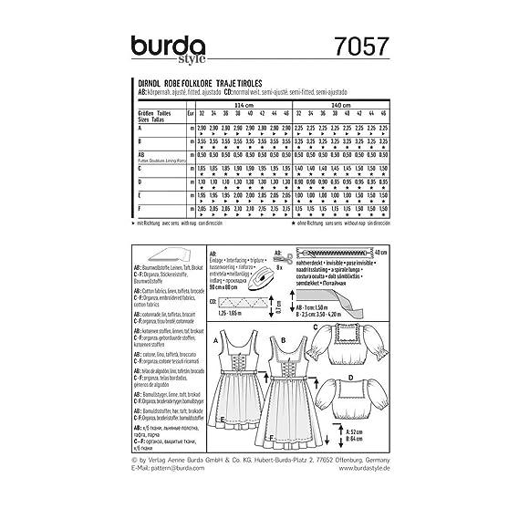 Burda Sewing pattern, 7057 - Folklore Dress, Young